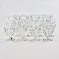 Baccarat Set of 24 Baccarat Crystal Talleyrand Wine Water and Liqueur Glasses - 2065716