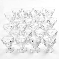 Baccarat Set of 24 Baccarat Crystal Talleyrand Wine Water and Liqueur Glasses - 2065718