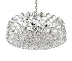 Bakalowits Sohne Pair of Large Crystal Drum Chandeliers - 216427