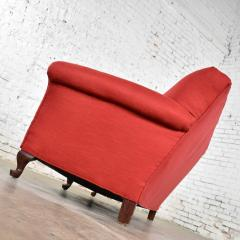 Baker Furniture Company Red smaller size lawson sofa with rolled arms down bench seat and tight back - 1682322