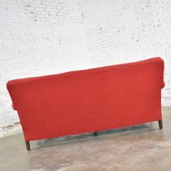 Baker Furniture Company Red smaller size lawson sofa with rolled arms down bench seat and tight back - 1682323