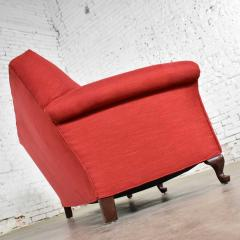 Baker Furniture Company Red smaller size lawson sofa with rolled arms down bench seat and tight back - 1682324