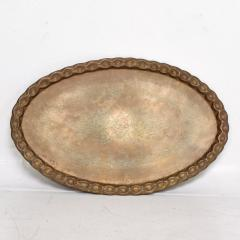 Baker Furniture Company Scalloped Indian Brass Bamboo Coffee Table Hollywood Regency Baker USA 1960s - 1632590