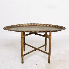 Baker Furniture Company Scalloped Indian Brass Bamboo Coffee Table Hollywood Regency Baker USA 1960s - 1632591