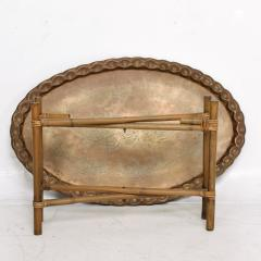 Baker Furniture Company Scalloped Indian Brass Bamboo Coffee Table Hollywood Regency Baker USA 1960s - 1632592