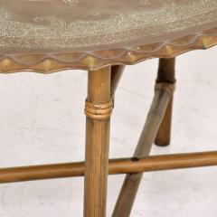 Baker Furniture Company Scalloped Indian Brass Bamboo Coffee Table Hollywood Regency Baker USA 1960s - 1632595