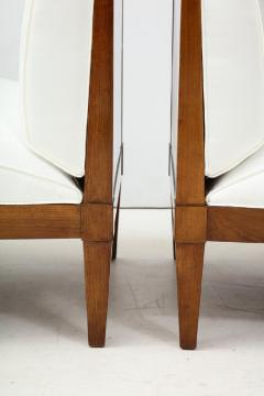 Baker Furniture Company Set of four mid century modern walnut lounge chairs by Baker Furniture - 1569078