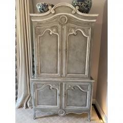Baker Furniture Company Vintage Baker Furniture Company Paint Decorated Armoire Linen Press - 2126608