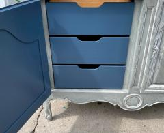 Baker Furniture Company Vintage Baker Furniture Company Paint Decorated Armoire Linen Press - 2126610
