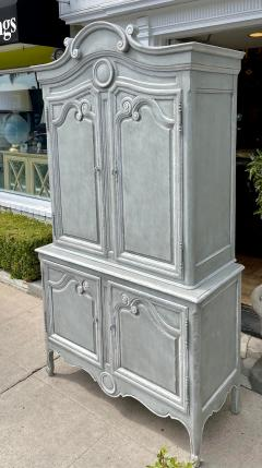 Baker Furniture Company Vintage Baker Furniture Company Paint Decorated Armoire Linen Press - 2126611