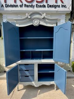 Baker Furniture Company Vintage Baker Furniture Company Paint Decorated Armoire Linen Press - 2126612