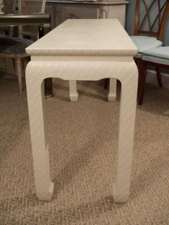 Baker Furniture Company White Lacquered Console Table - 1100385