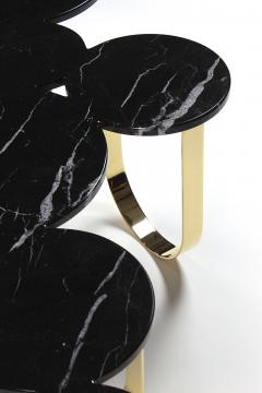 Barberini Gunnell Coffee table or center table in black Marquinia marble and polished brass Italy - 1441966