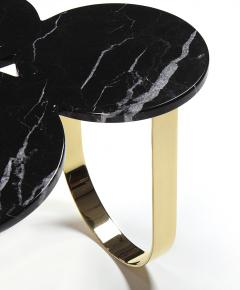 Barberini Gunnell Coffee table or center table in black Marquinia marble and polished brass Italy - 1441972