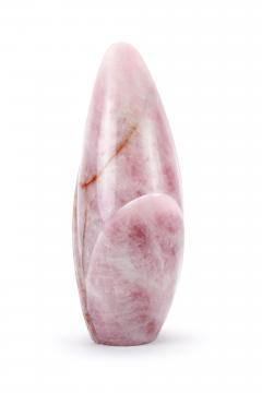 Barberini Gunnell Vase sculpture hand carved from a solid block of Rose Quartz made in Italy - 1637260