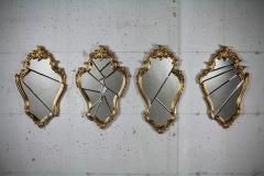 Barberini Gunnell Wall mirror gold leaf classic frame Rococo style made in Italy - 1449020
