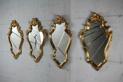 Barberini Gunnell Wall mirror gold leaf classic frame Rococo style made in Italy - 1449021