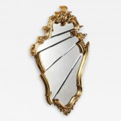 Barberini Gunnell Wall mirror gold leaf classical frame Rococo style made in Italy - 1456133