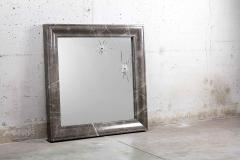Barberini Gunnell Wall mirror square grey marble frame contemporary design made in Italy - 1448972
