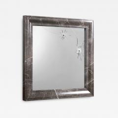 Barberini Gunnell Wall mirror square grey marble frame contemporary design made in Italy - 1456124