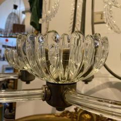 Barovier Toso 1950s Mid Century Modern Barovier Murano Glass Chandelier - 2080536