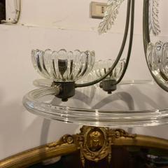 Barovier Toso 1950s Mid Century Modern Barovier Murano Glass Chandelier - 2080537