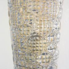 Barovier Toso 1960s Italian Crystal Murano Glass Pair of Diamond Shaped Sconces on Brass - 1254816