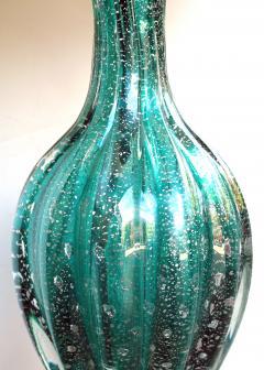 Barovier Toso A Murano Mid Century Teal Art Glass Silver Aventurine Lamp Barovier Toso - 276888