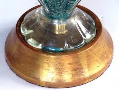 Barovier Toso A Murano Mid Century Teal Art Glass Silver Aventurine Lamp Barovier Toso - 276891