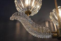 Barovier Toso Barovier Glass Chandelier with Bells and Leaves - 336867