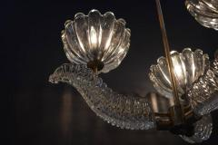 Barovier Toso Barovier Glass Chandelier with Bells and Leaves - 336869