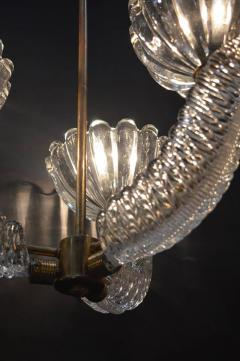 Barovier Toso Barovier Glass Chandelier with Bells and Leaves - 336871