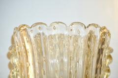 Barovier Toso Barovier Italian Art Deco Design Crystal Gold Leaf Murano Glass Bowl Sconces - 1308158