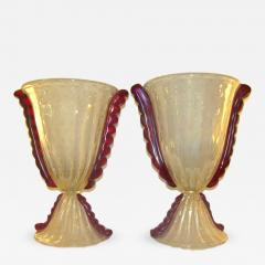 Barovier & Toso - Barovier e Toso Grand Pair of Pearlized Murano ...