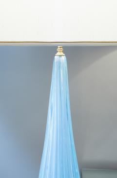 Barovier Toso Brovier Toso Monumental Hand Blown Blue Glass Table Lamp 1950s - 308322