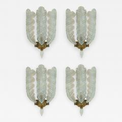Barovier Toso Four Sconces Attributed to Barovier - 1168454