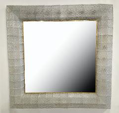 Barovier Toso Italian Modern Handblown Glass and Bronze Illuminated Mirror Barovier and Toso - 2099227