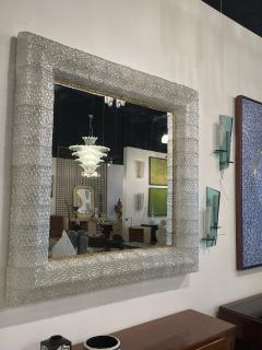 Barovier Toso Italian Modern Handblown Glass and Bronze Illuminated Mirror Barovier and Toso - 2099228