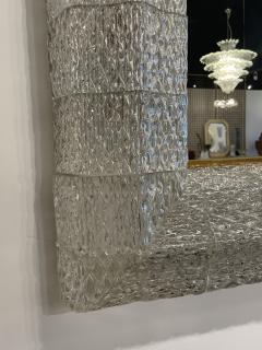 Barovier Toso Italian Modern Handblown Glass and Bronze Illuminated Mirror Barovier and Toso - 2099231