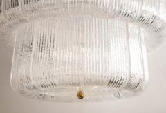 Barovier Toso Large Clear Murano Glass Round Chandelier in the Style of Barovier Toso Italy - 1998613