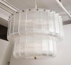 Barovier Toso Large Clear Murano Glass Round Chandelier in the Style of Barovier Toso Italy - 1998615