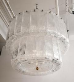 Barovier Toso Large Clear Murano Glass Round Chandelier in the Style of Barovier Toso Italy - 1998617