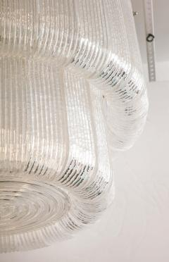 Barovier Toso Large Clear Murano Glass Round Chandelier in the Style of Barovier Toso Italy - 1998618