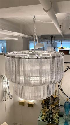 Barovier Toso Large Clear Murano Glass Round Chandelier in the Style of Barovier Toso Italy - 1998622
