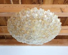 Barovier Toso Large Mid Century Modern Murano glass flower flush mount light By Barovier 1970s - 1523864
