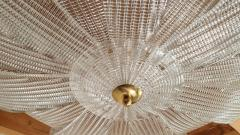 Barovier Toso Large Mid Century Murano clear glass flush mount lights Barovier style 1970s - 1604015