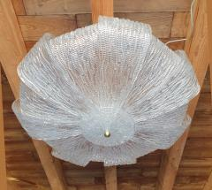 Barovier Toso Large Murano Clear Glass Mid Century Modern Flush Mount chandelier Barovier Sty - 1966536
