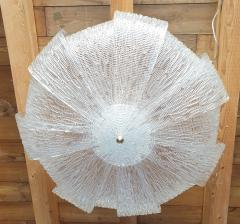 Barovier Toso Large Murano Clear Glass Mid Century Modern Flush Mount chandelier Barovier Sty - 1966546