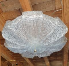 Barovier Toso Large Murano Clear Glass Mid Century Modern Flush Mount chandelier Barovier Sty - 1966547