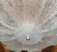 Barovier Toso Large Murano Clear Glass Mid Century Modern Flush Mount chandelier Barovier Sty - 1966555